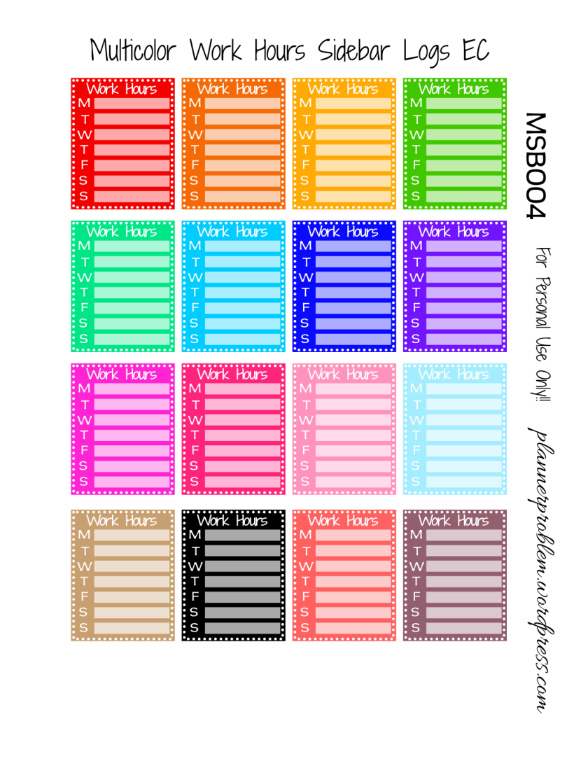 Multicolor Work Reminders & Decorative Text!   Free ...