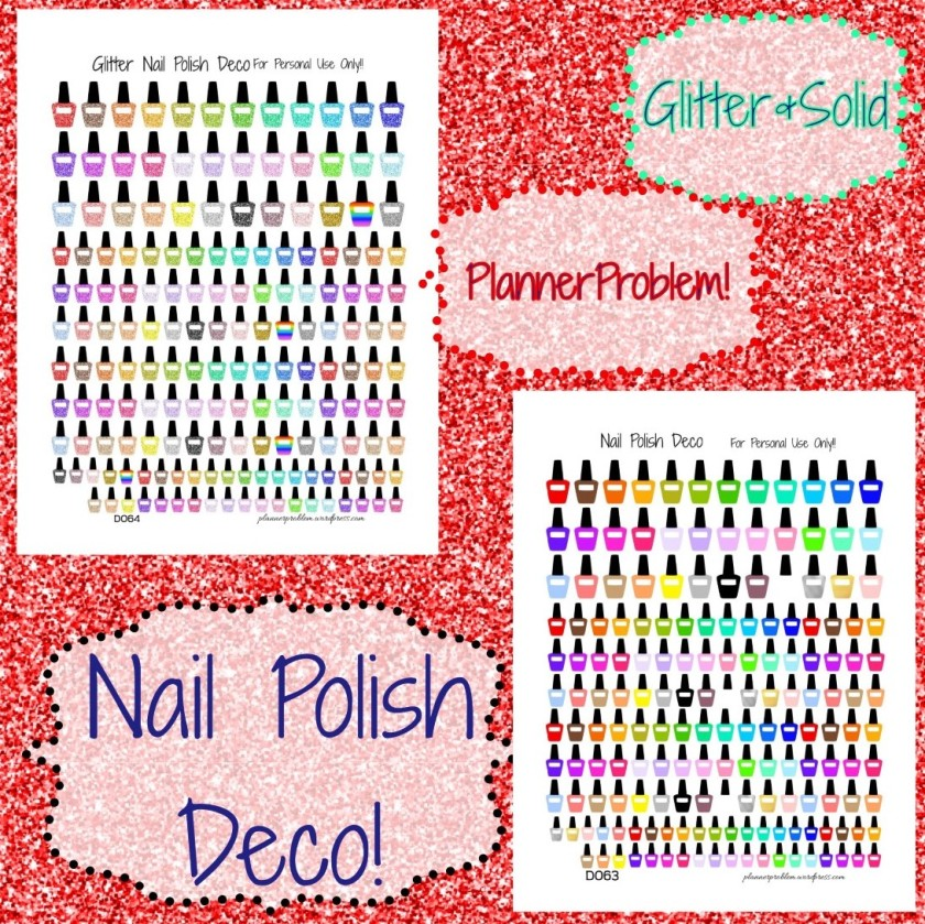 Nail Polish Deco! | Free Printable Planner Stickers – PlannerProblem