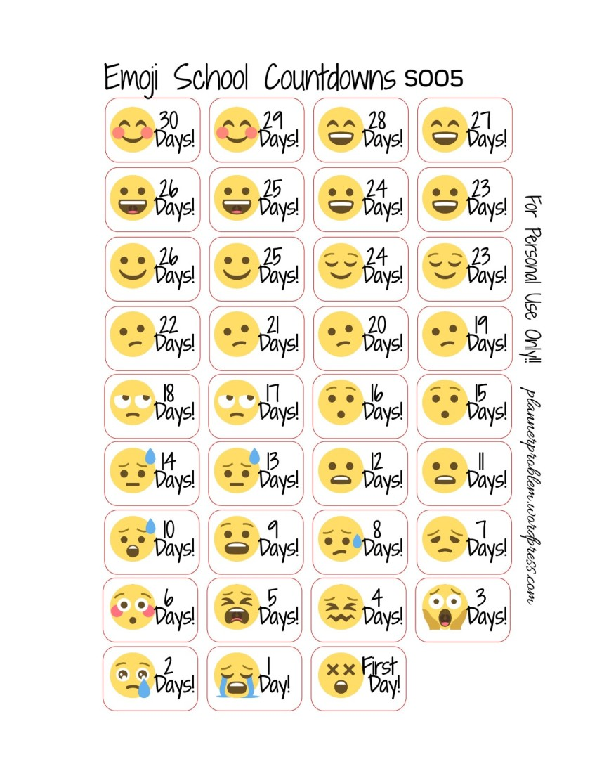 Emoji School Countdowns pdf – DOWNLOAD