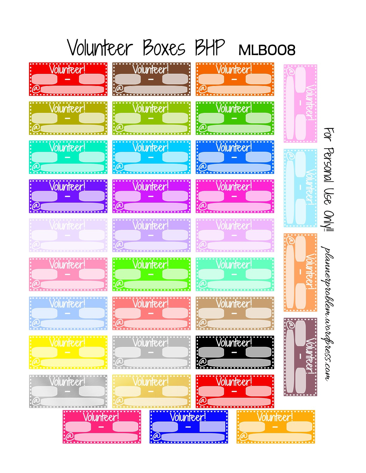 Free Planner Printable Chores Stickers - Stingy, Thrifty ...