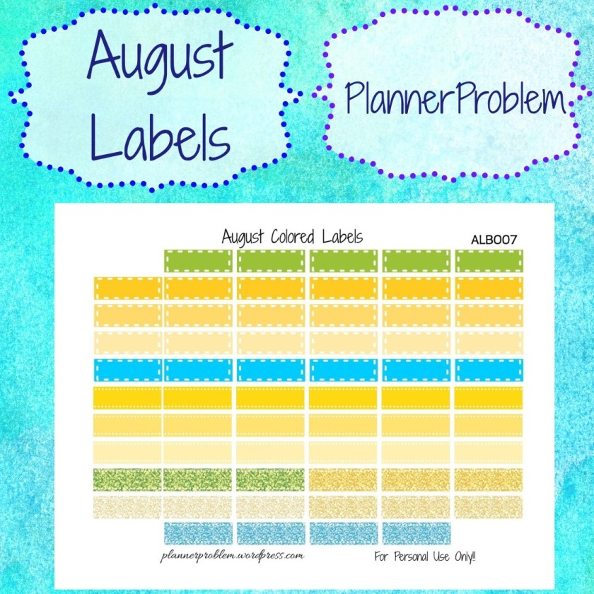August Colors – PlannerProblem