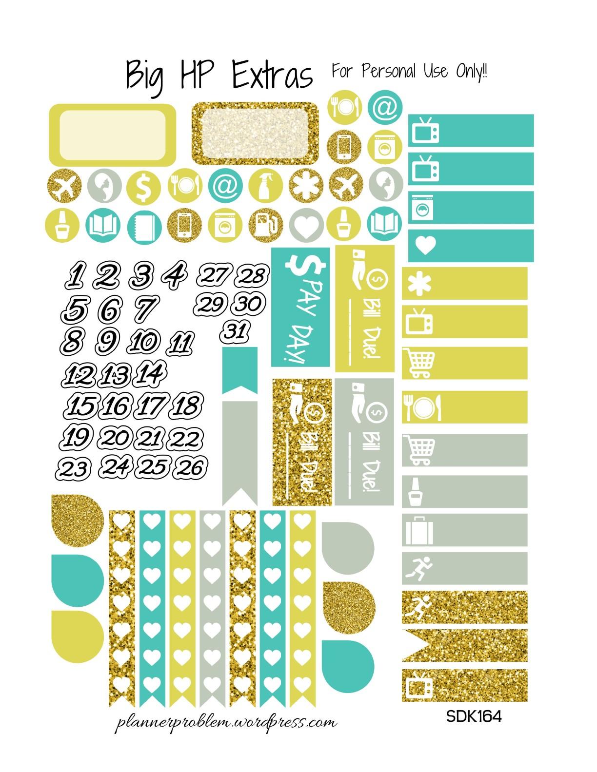 Blank Calendar Emoji : Summer days kit free printable planner stickers