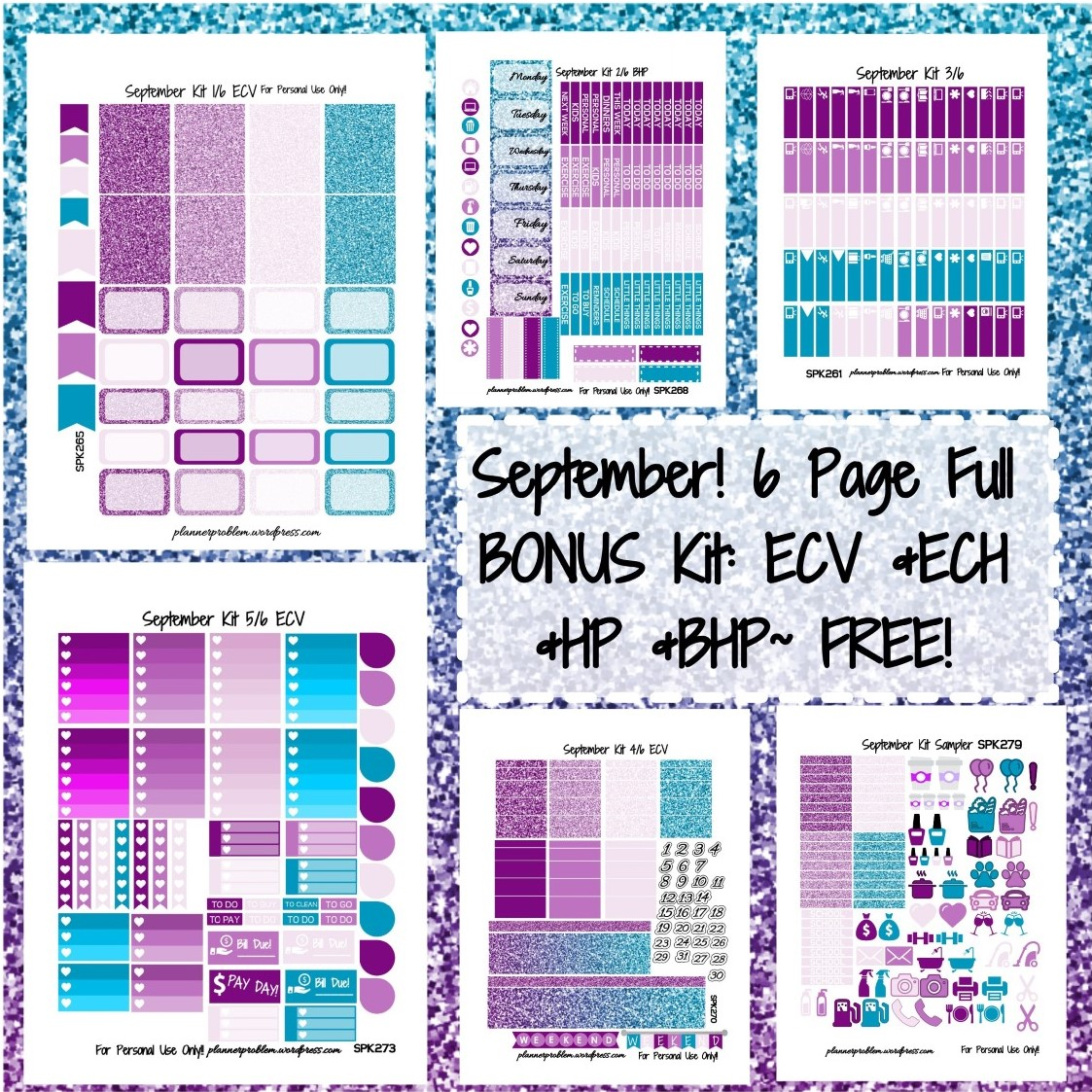 This is a photo of Crazy Free Printable Stickers for Planners