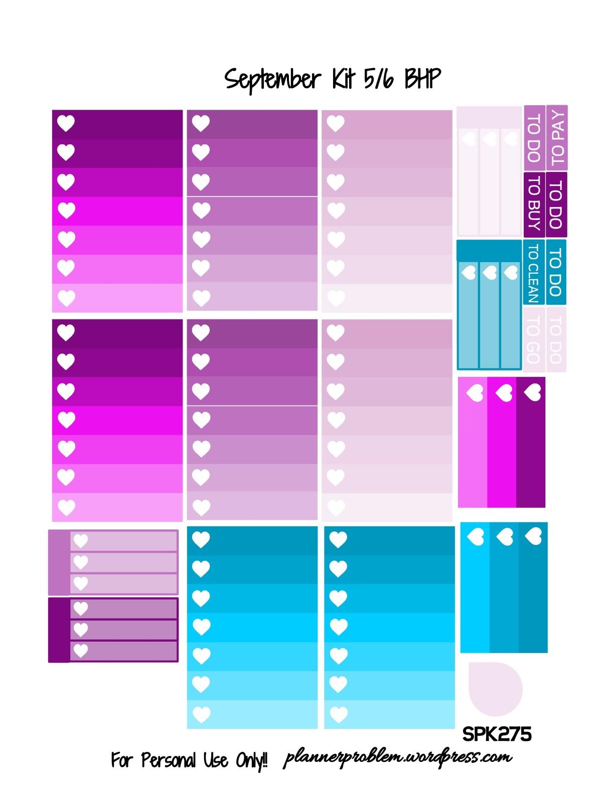 September Glitter KIT! | Free Printable Planner Stickers