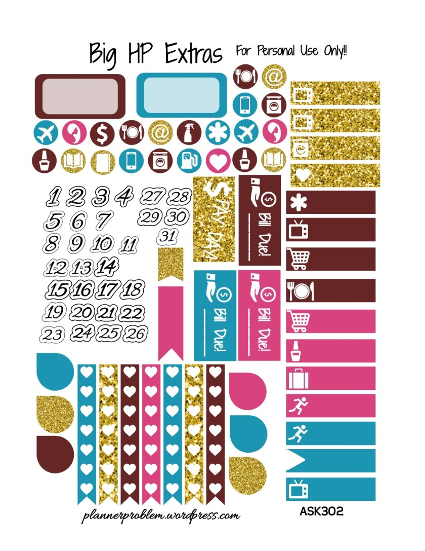 Autumn Spice KIT! | Free Printable Planner Stickers ...