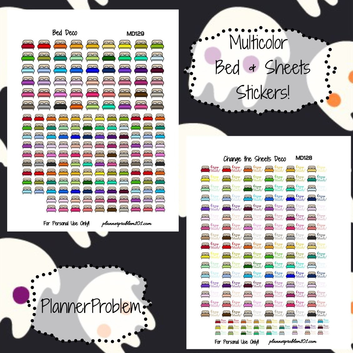 photograph regarding Printable Stickers Sheets titled Multicolor Mattress Sheets Deco! Cost-free Printable Planner