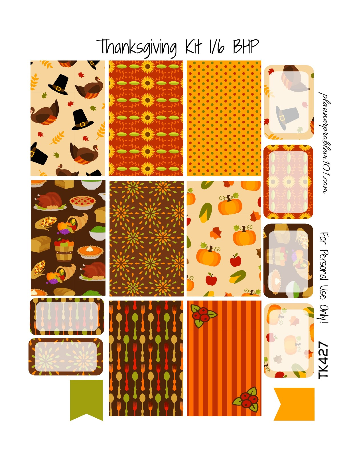 Thanksgiving KIT! | Free Printable Planner Stickers ...