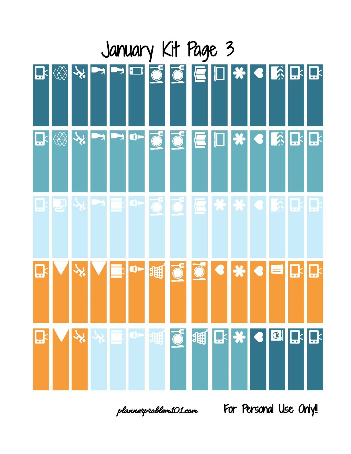 Free Printable Weekly Sticker Kit