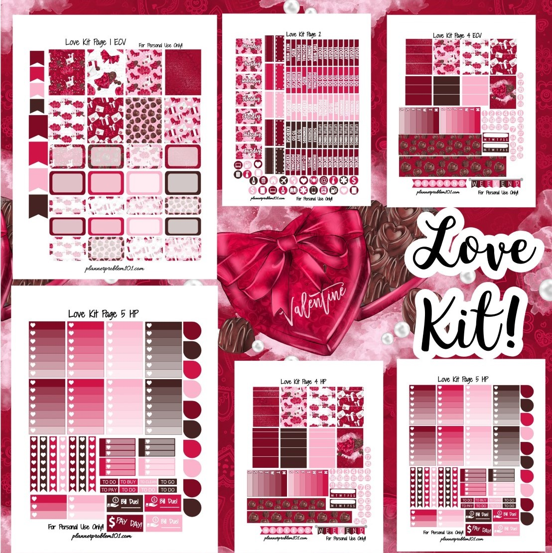 Love Kit! | Free Printable Planner Stickers – PlannerProblem