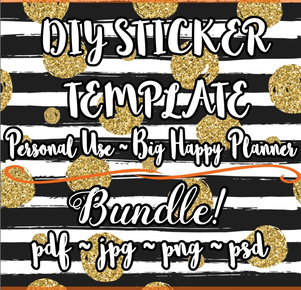 photo regarding Happy Planner Monthly Layout Printable identify Massive Pleased Planner Sticker Template! // Free of charge Printable